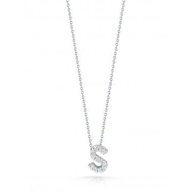 Diamond Initial S Necklace
