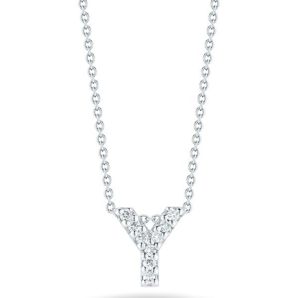 Diamond Initial Y Necklace
