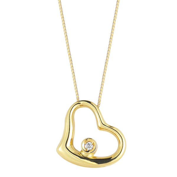 Roberto Coin Diamond Heart Necklace