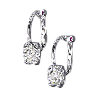 Roberto Coin Cento 18kt White Gold Diamond Wire Earrings