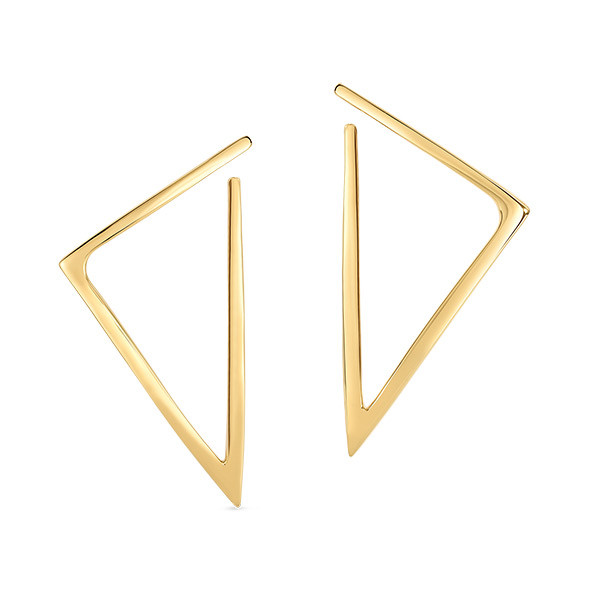 Roberto Coin Designer Gold Triangle Drop Earrings