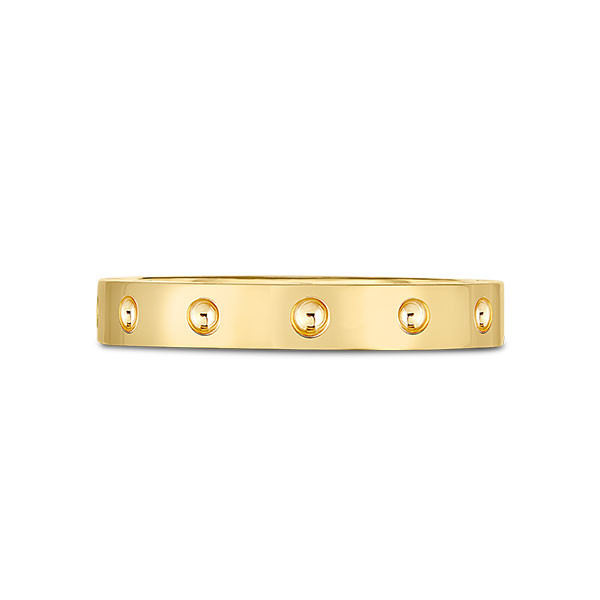 Roberto Coin Symphony Pois Moi Yellow Gold Band Ring