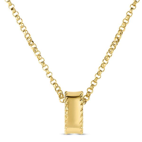 Roberto Coin Symphony Princess Rondel Yellow Gold Pendant