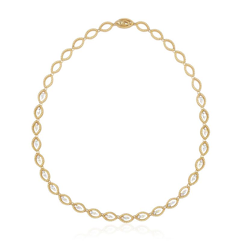 Roberto Coin New Barocco Diamond Link Necklace