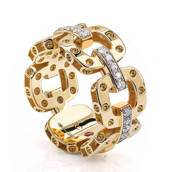 Roberto Coin Pois Moi Pave Diamond Ring