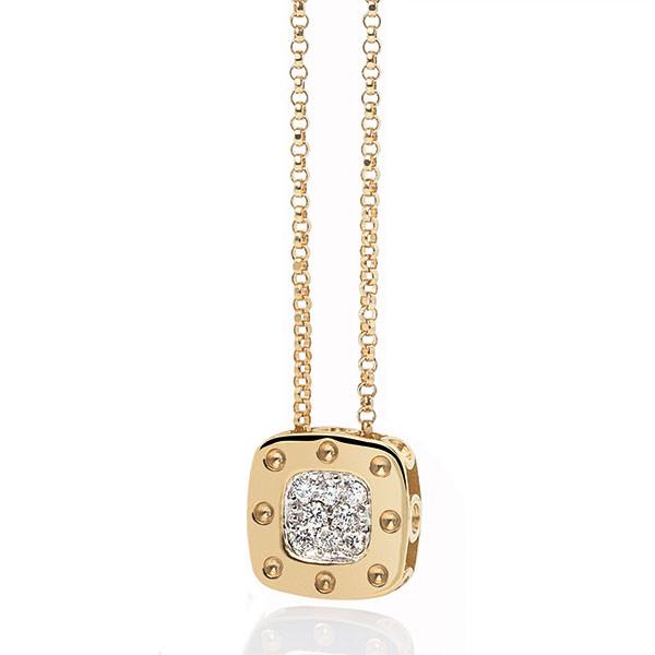 Roberto Coin Pois Mois Diamond Cluster Necklace