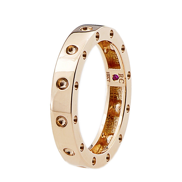 Roberto Coin 18kt Rose Gold Pois Moi Single Round Ring