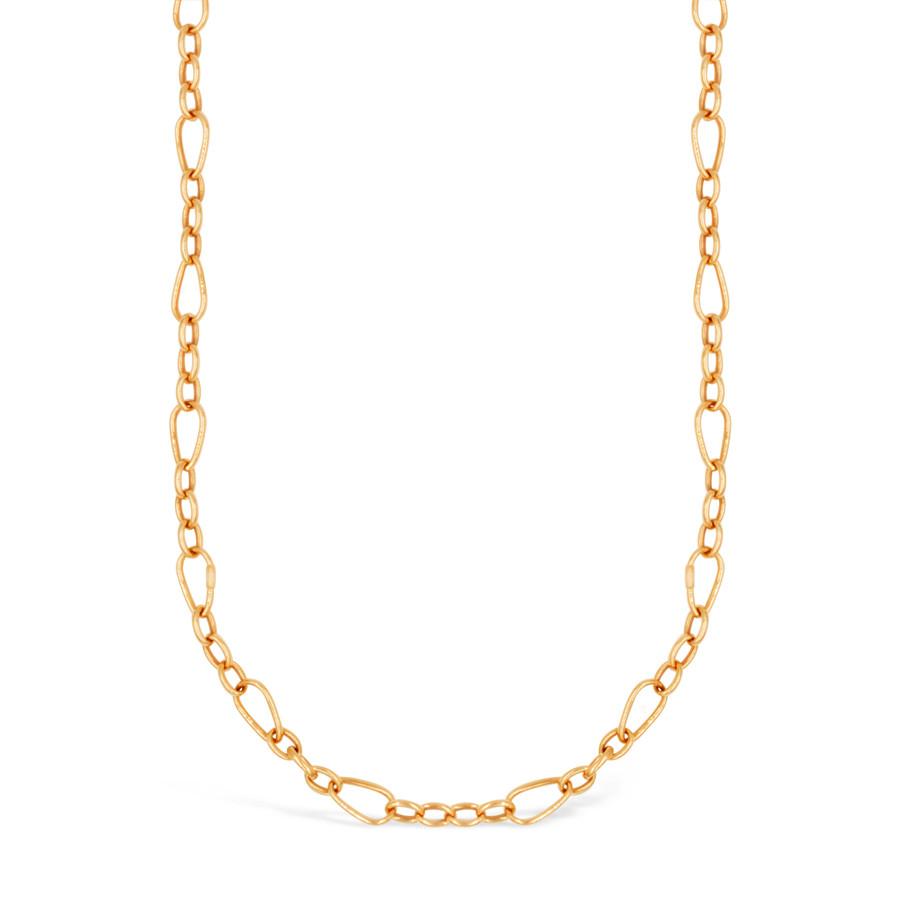 Roberto Coin Designer Rose Gold Sequence Link Necklace