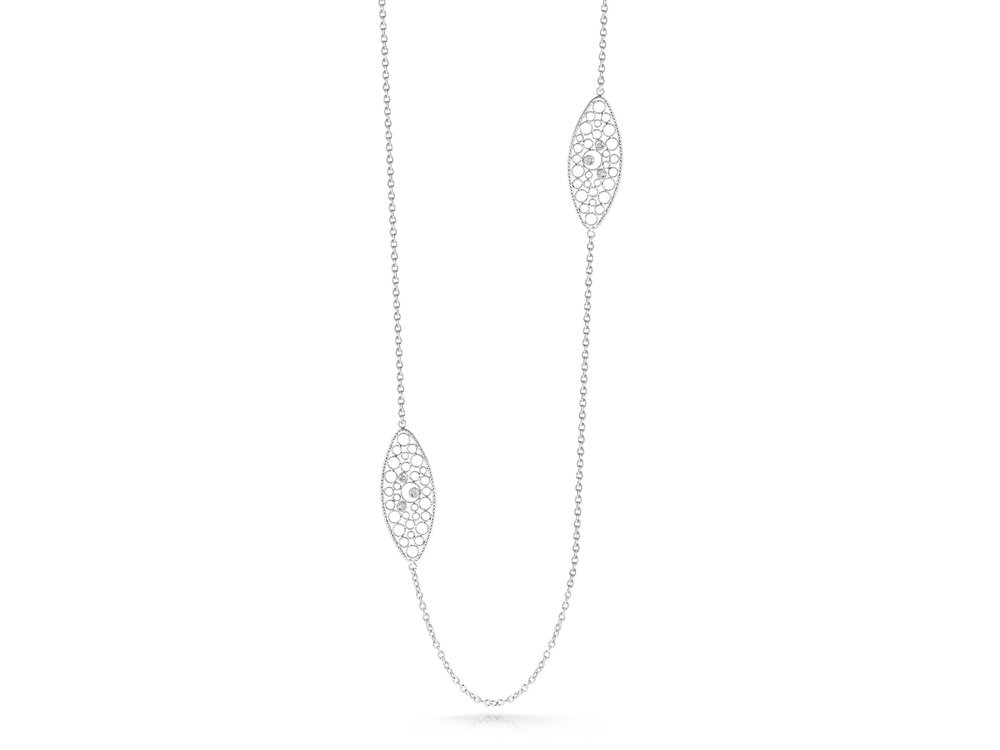 Roberto Coin Bollicine Long Diamond Statement Necklace