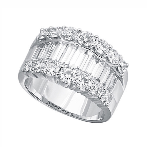 Baguette Diamond Wide Band Ring