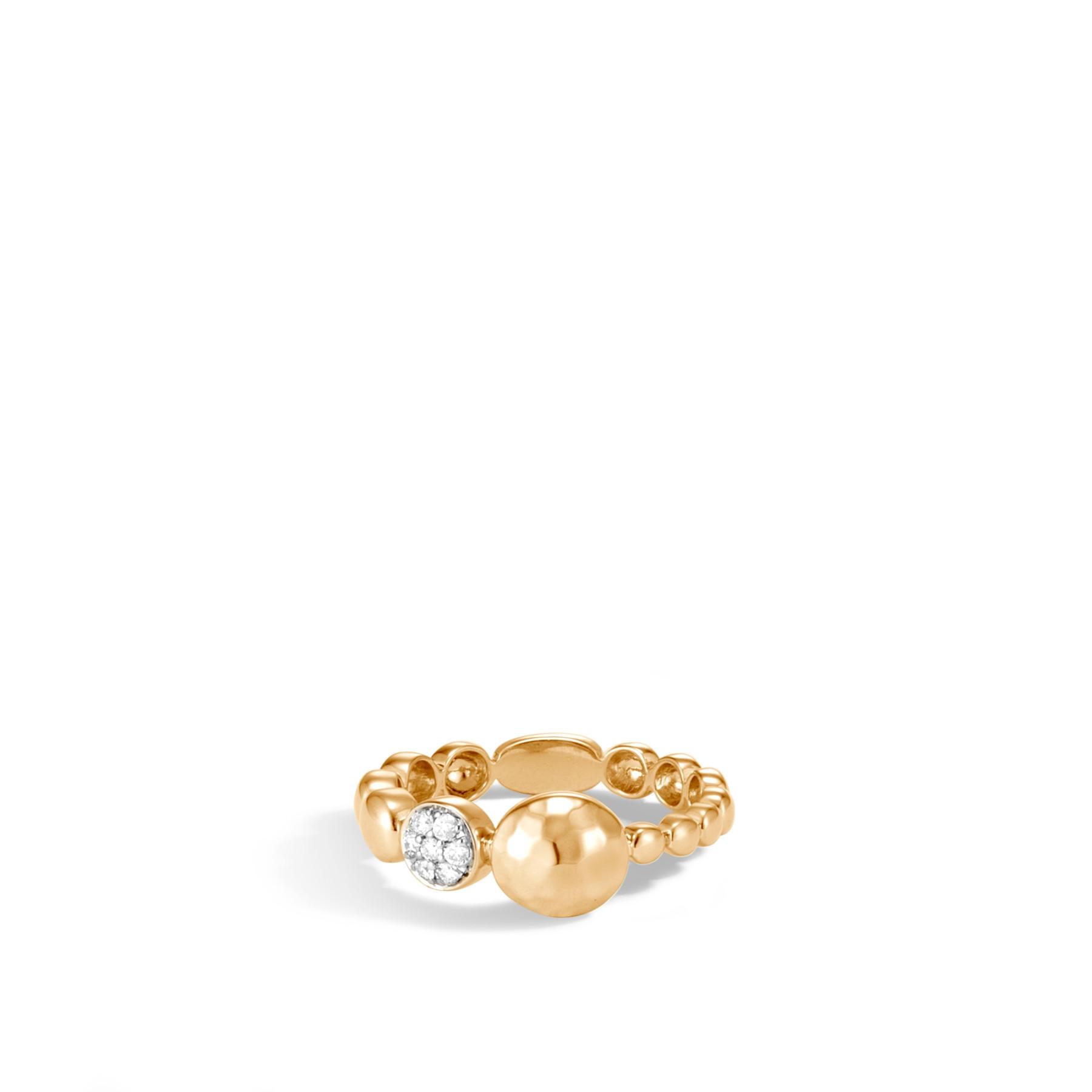 John Hardy Dot Hammered Diamond Disc Ring