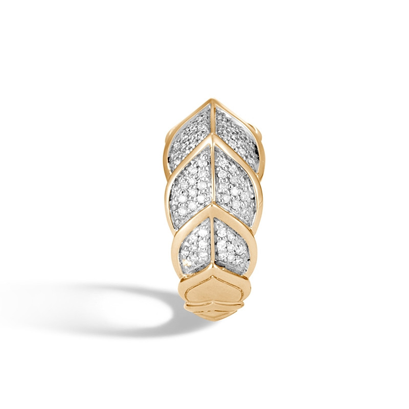 John Hardy Legends Naga Diamond Ring in Yellow Gold side view