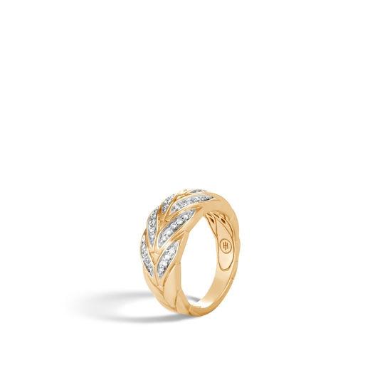 John Hardy Modern Chain Diamond Ring angle view