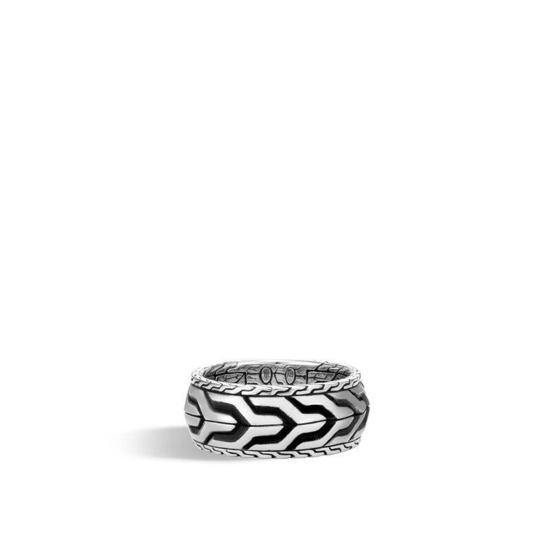 John Hardy Asli Classic Chain Ring in Sterling Silver frotn view
