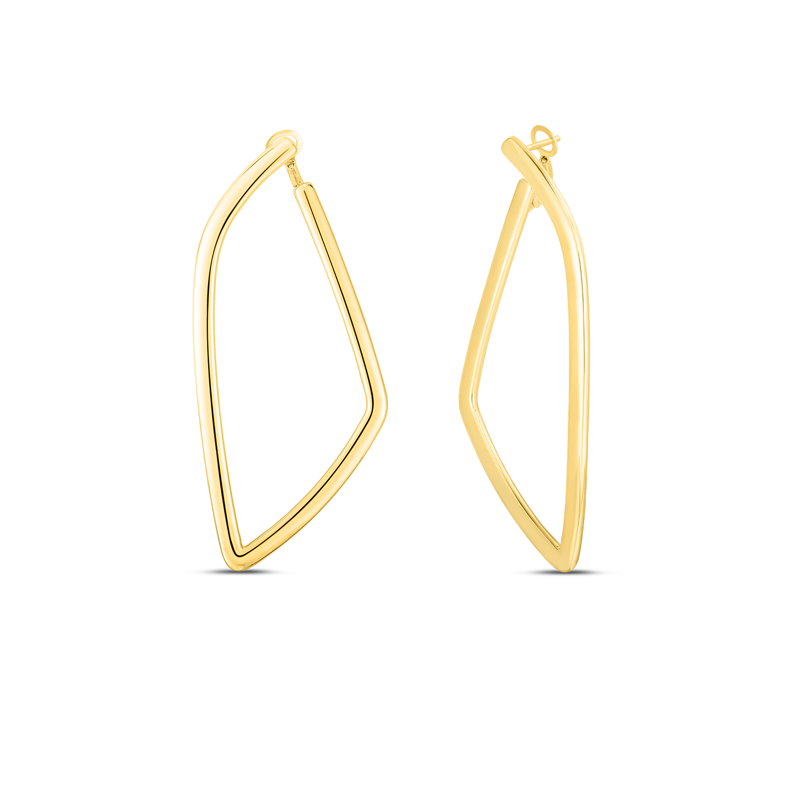 Roberto Coin Geometric Hoops in 18K Gold main view