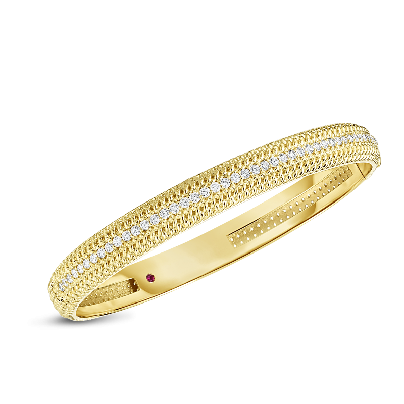 Roberto Coin Opera 18K Yellow Gold Diamond Bangle main view