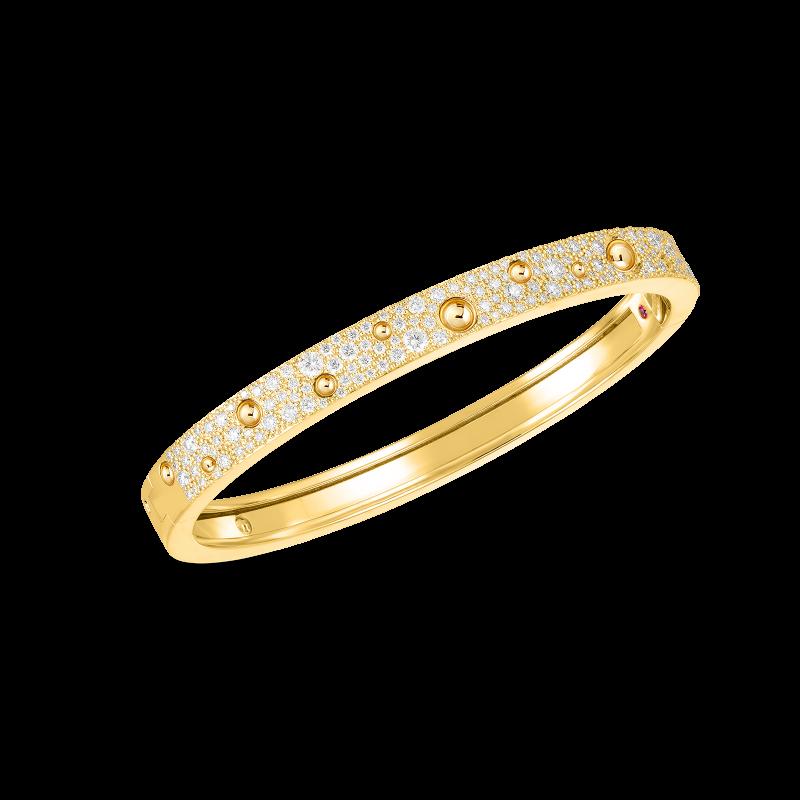 Roberto Coin Pois Moi Luna Diamond Bangle in 18K Gold yellow gold