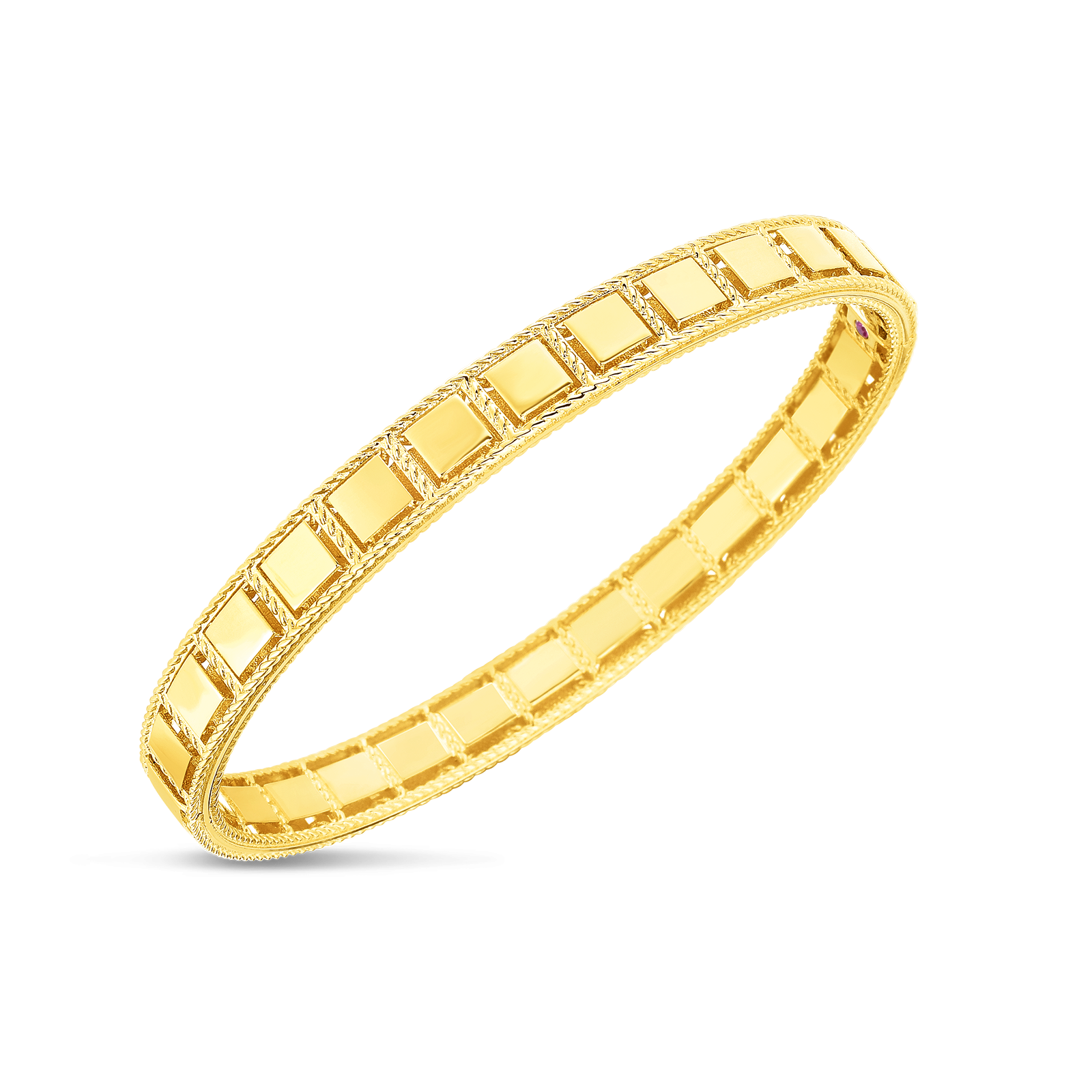 Roberto Coin Roman Barocco Bangle in 18K Gold