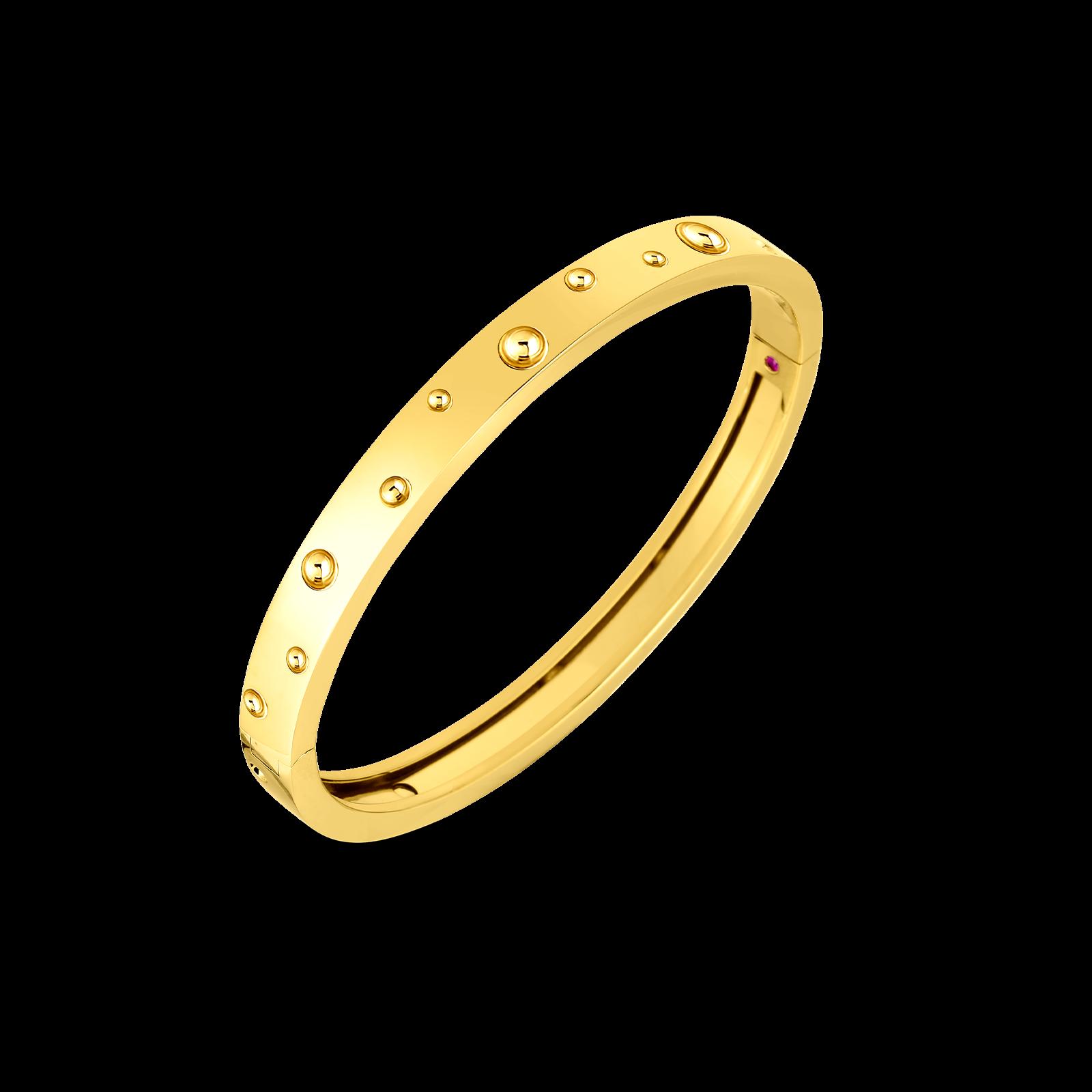 Roberto Coin Pois Moi Luna Diamond Bangle in 18K Gold