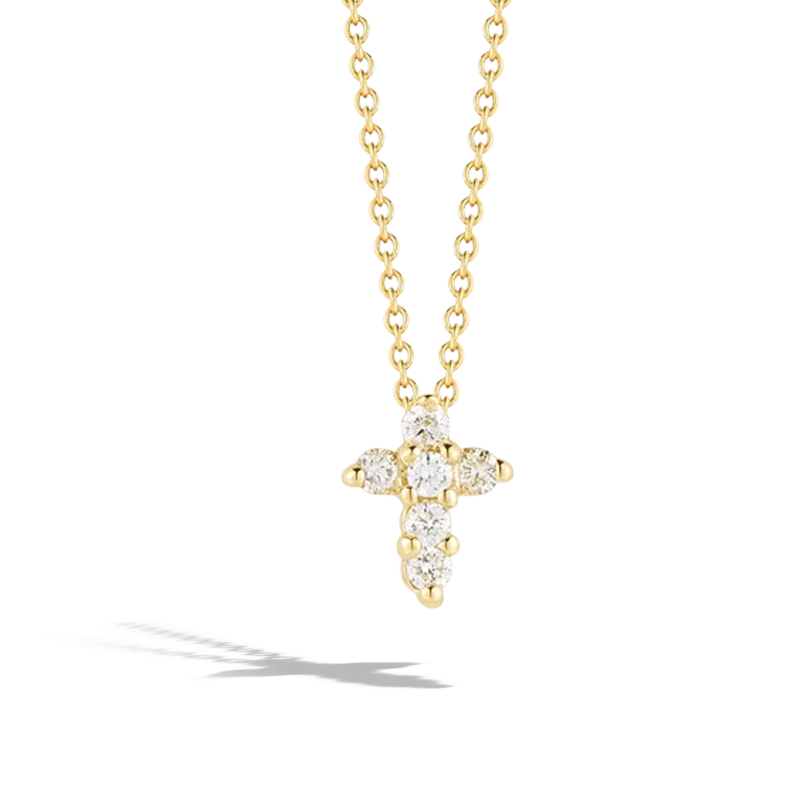 Roberto Coin Baby Cross in Yellow Gold