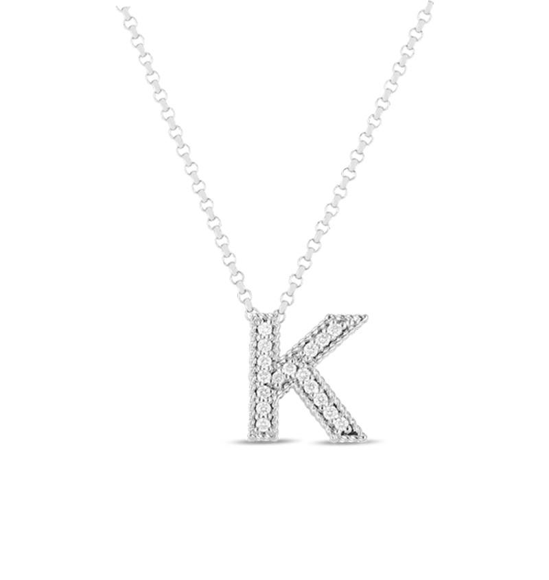 Roberto Coin Diamond Letter Necklace