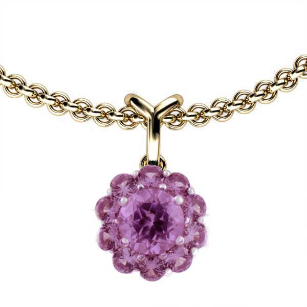 Color My Life Simulated Alexandrite June Short Pendant