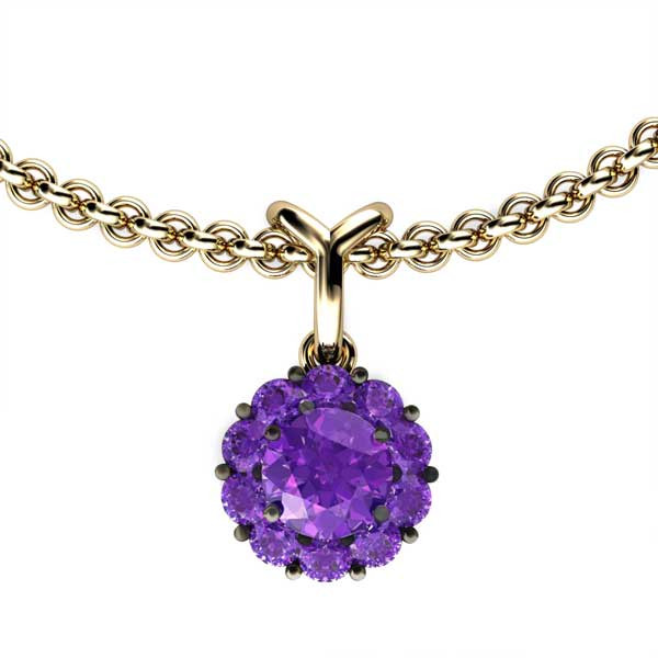 Color My Life Amethyst Short Pendant