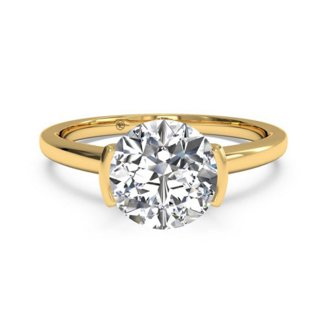 Ritani Bezel-Set Yellow Gold Solitaire Engagement Mounting