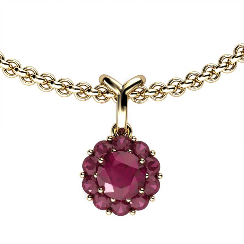 Color My Life Ruby Short Pendant