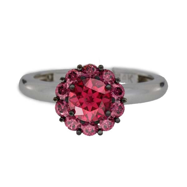 Color My Life Ruby Ring in White Gold