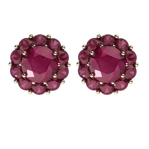 Color My Life Ruby Stud Earrings