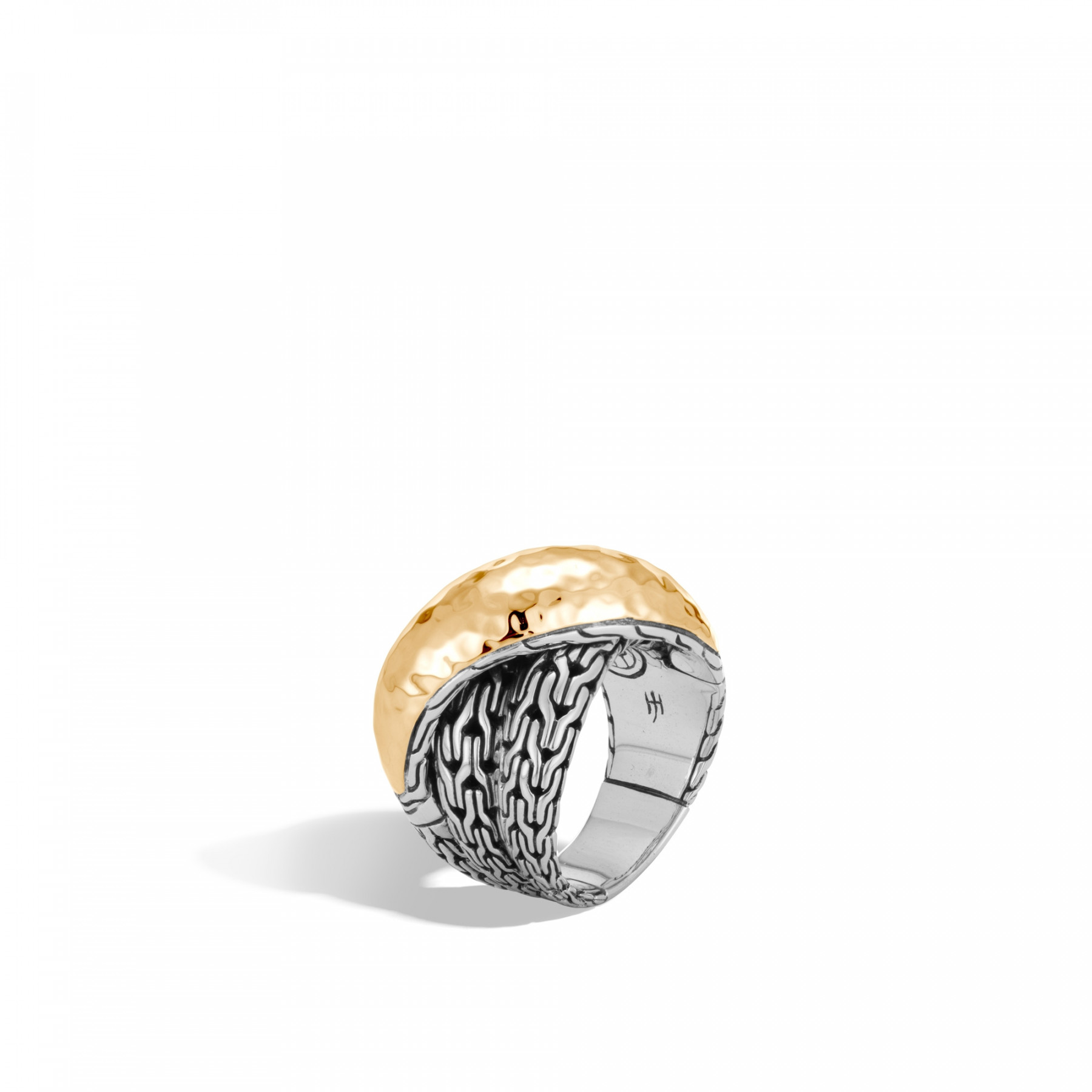 John Hardy Classic Chain Two-Tone Overlap Ring angle view