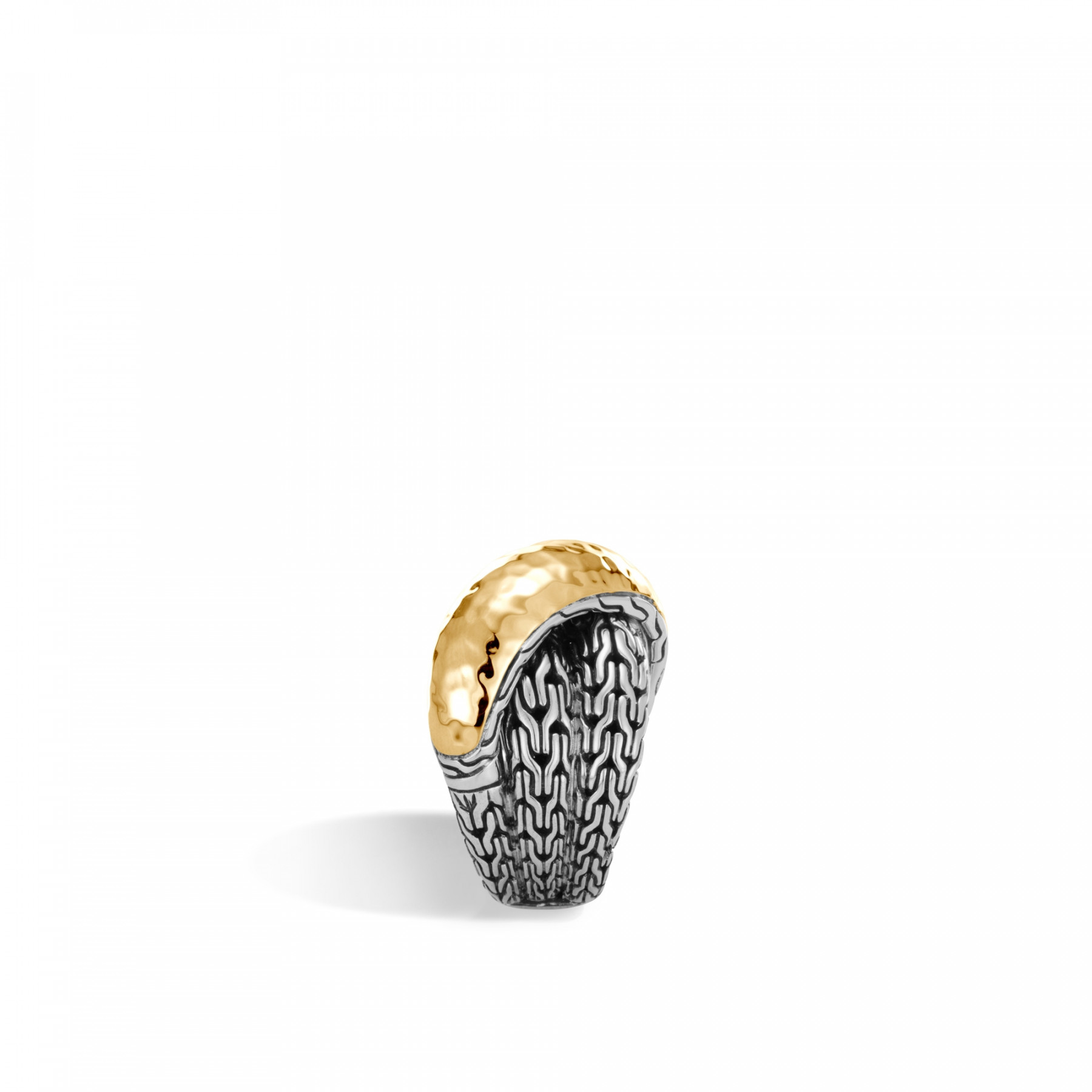 John Hardy Classic Chain Two-Tone Overlap Ring side view