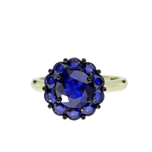 Color My Life Sapphire Ring in Yellow Gold