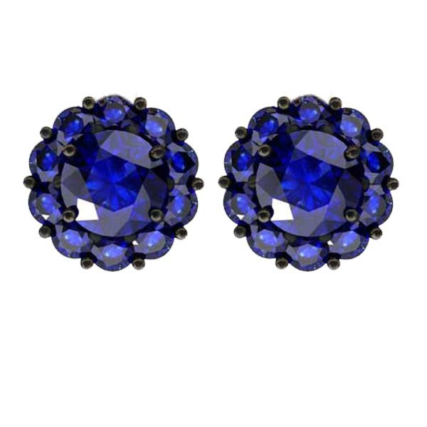 Color My Life Sapphire Studd Earrings