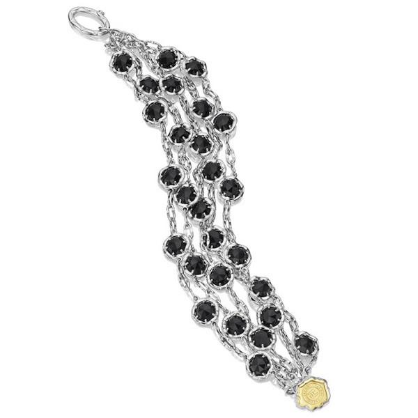 Tacori Black Lightning Five Strand Sterling Silver & Black Onyx Bracelet