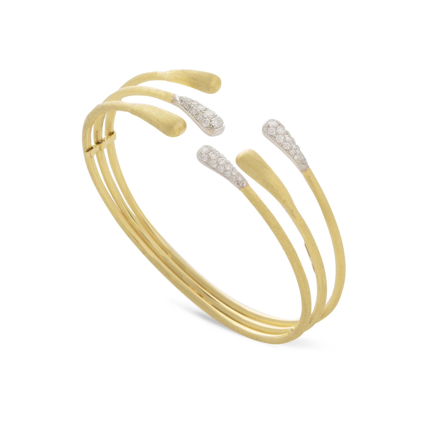 Marco Bicego Lucia Three Row Diamond Bangle Bracelet