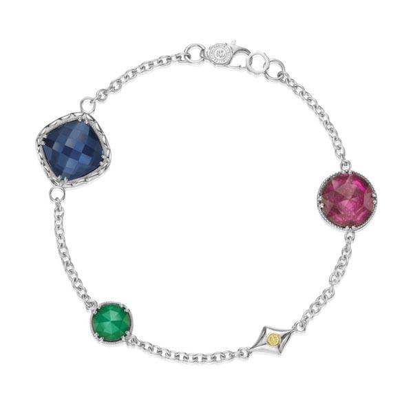 """Tacori City Lights Sterling Silver Gemstone Bracelet 7.5"""""""