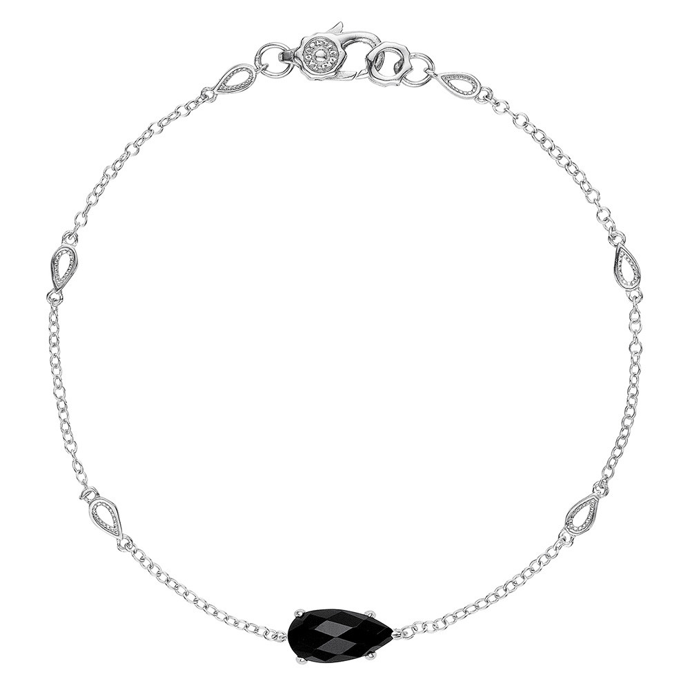 Tacori Black Onyx Horizon Shine Pear Station Bracelet