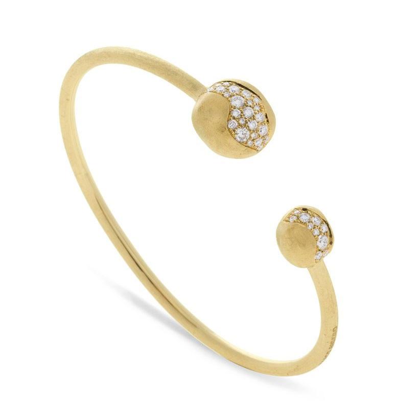 Marco Bicego Africa Constellation Diamond Yellow Gold Kissing Bangle
