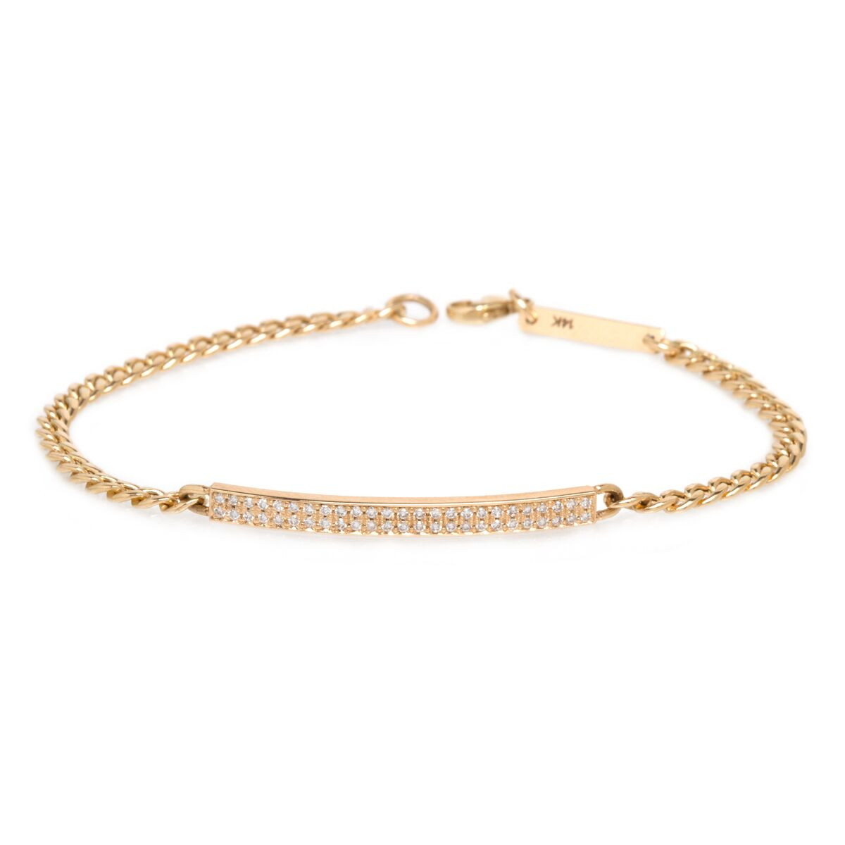 Zoe Chicco ID Station Bracelet in Yellow Gold