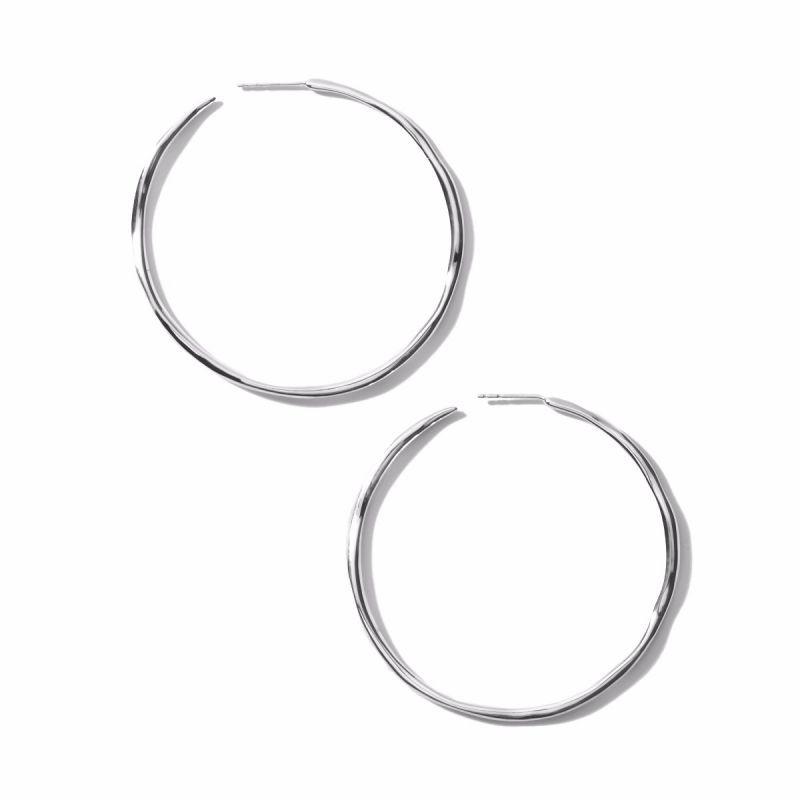 IPPOLITA Silver Classico Squiggle Hoop Earrings flat view