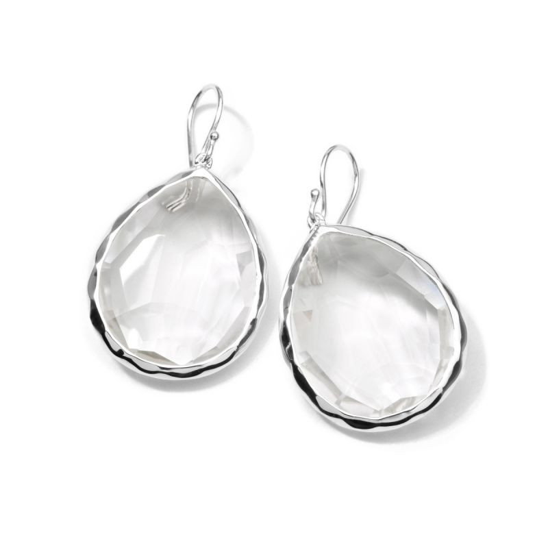 IPPOLITA Silver Rock Candy Large Clear Quartz Dangle Earrings