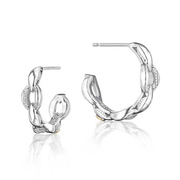 Tacori Silver Hoop Earrings
