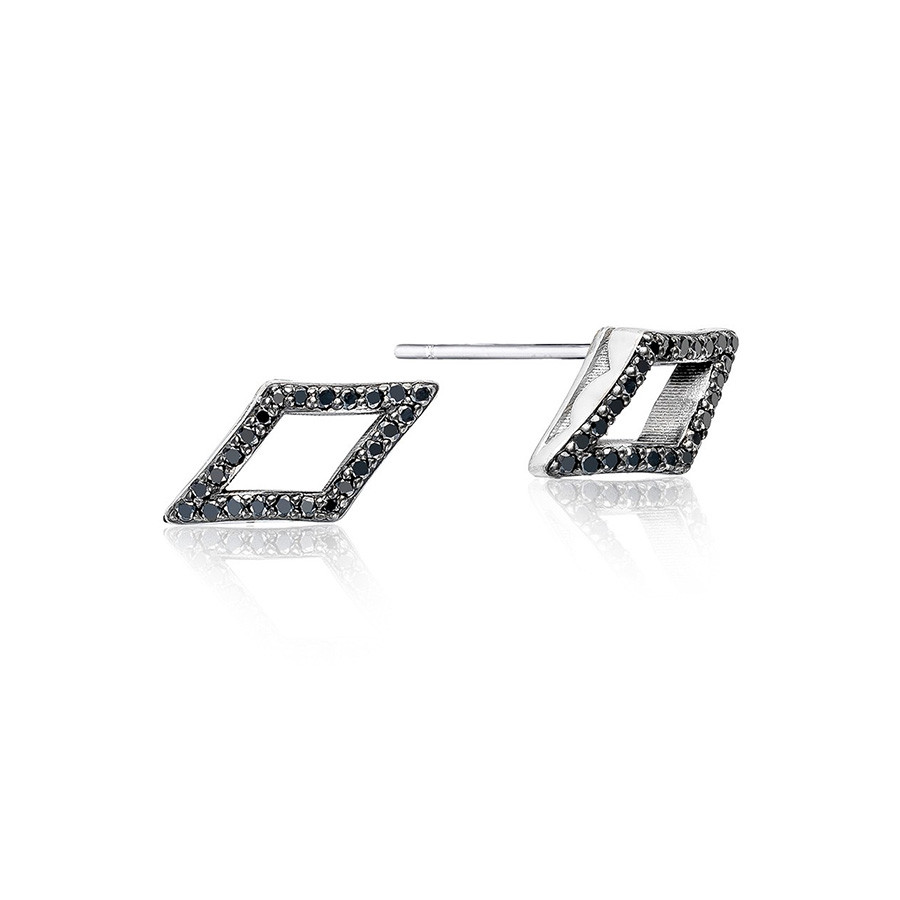 Tacori Black Diamond Chevron Stud The Ivy Lane Earrings