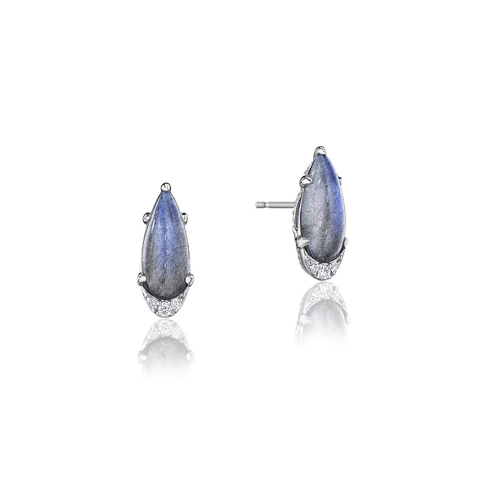 Tacori Pear Labradorite & Diamond Horizon Shine Stud Earrings