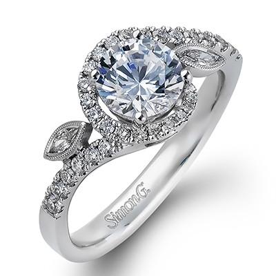 Simon G MR2373 Duchess Pave Engagement Ring
