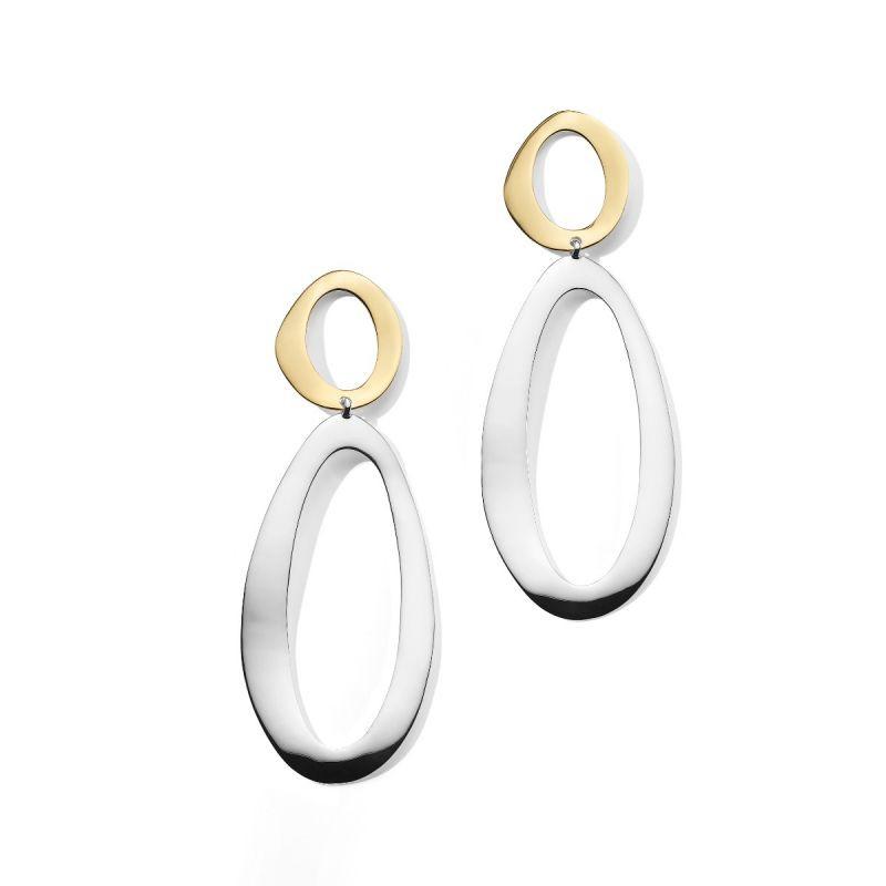 IPPOLITA Chimera Snowman Two Tone Dangle Earrings side by side