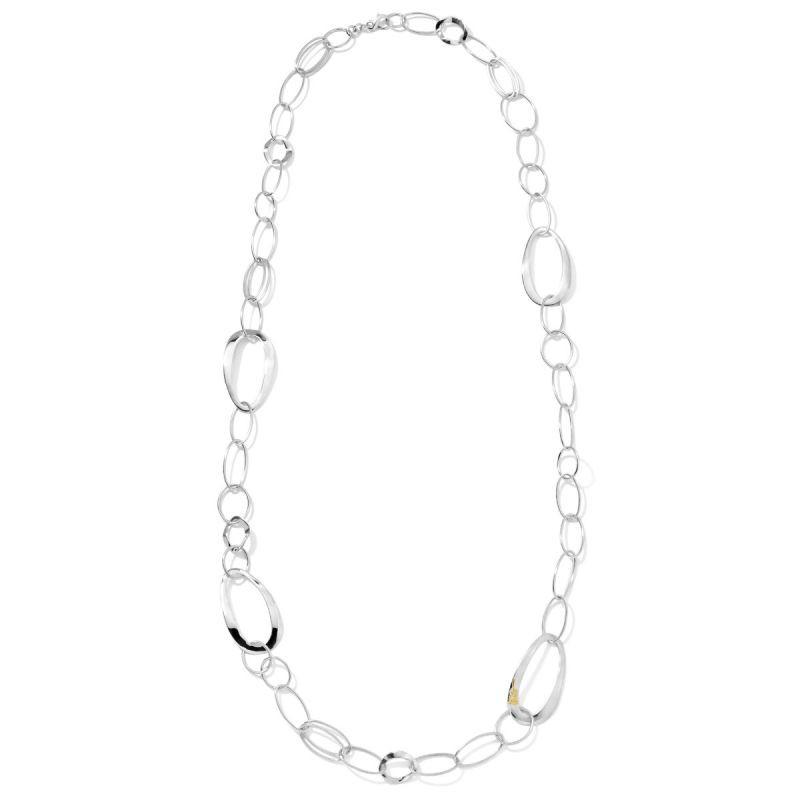 IPPOLITA Classico Silver and Gold Accent Chain Necklace