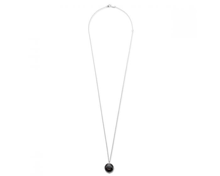 IPPOLITA Silver Rock Candy Round Hematite Necklace full view